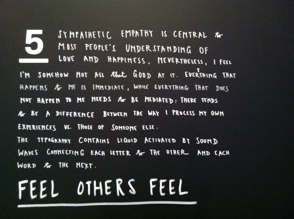 Sagmeister & Walsh exhibit at the Jewish Museum, April 2013.