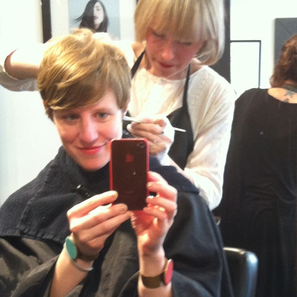 Getting a new look this fall, with Evelyn at Salon Helmet.