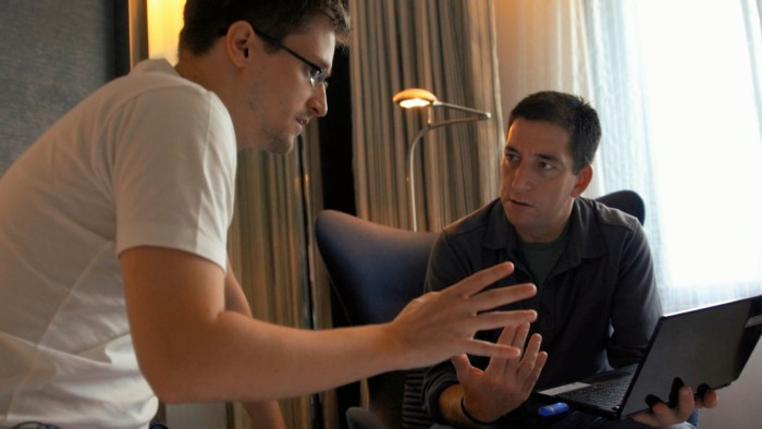 Edward Snowden and Glenn Greenwald. USA/DEU 2014. © PiFFL Medien.